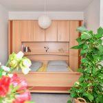 Schlafzimmer Ferienwohnung Universität
