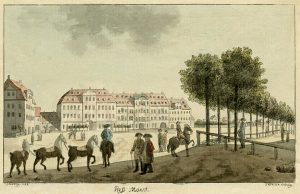 Roßplatz in Leipzig, 1784